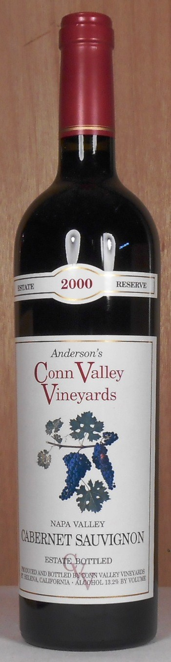 Anderson's Conn Valley Vineyards Cabernet Sauvignon Estate Reserve Napa Valley 2000