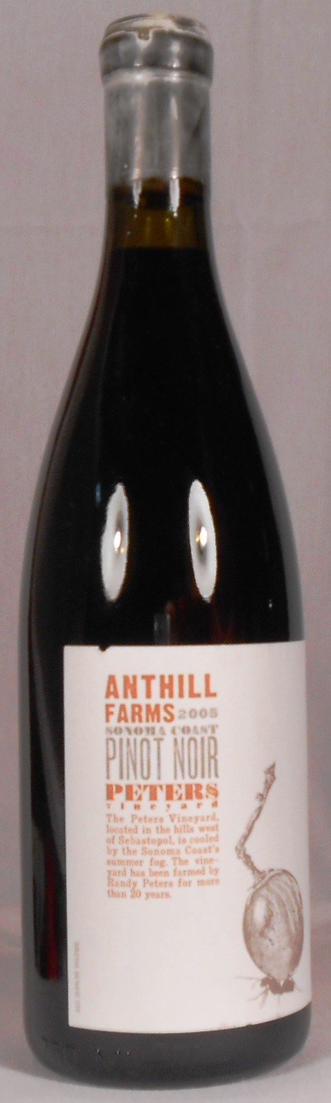 Anthill Farms Pinot Noir Peters Vineyard Sonoma Coast 2005
