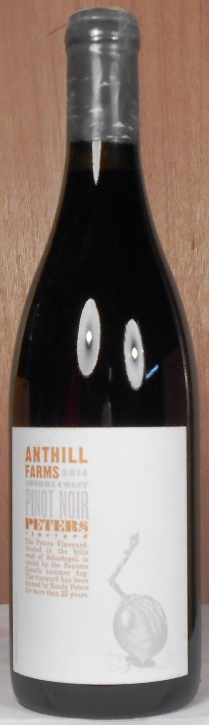 Anthill Farms Pinot Noir Peters Vineyard Sonoma Coast 2014