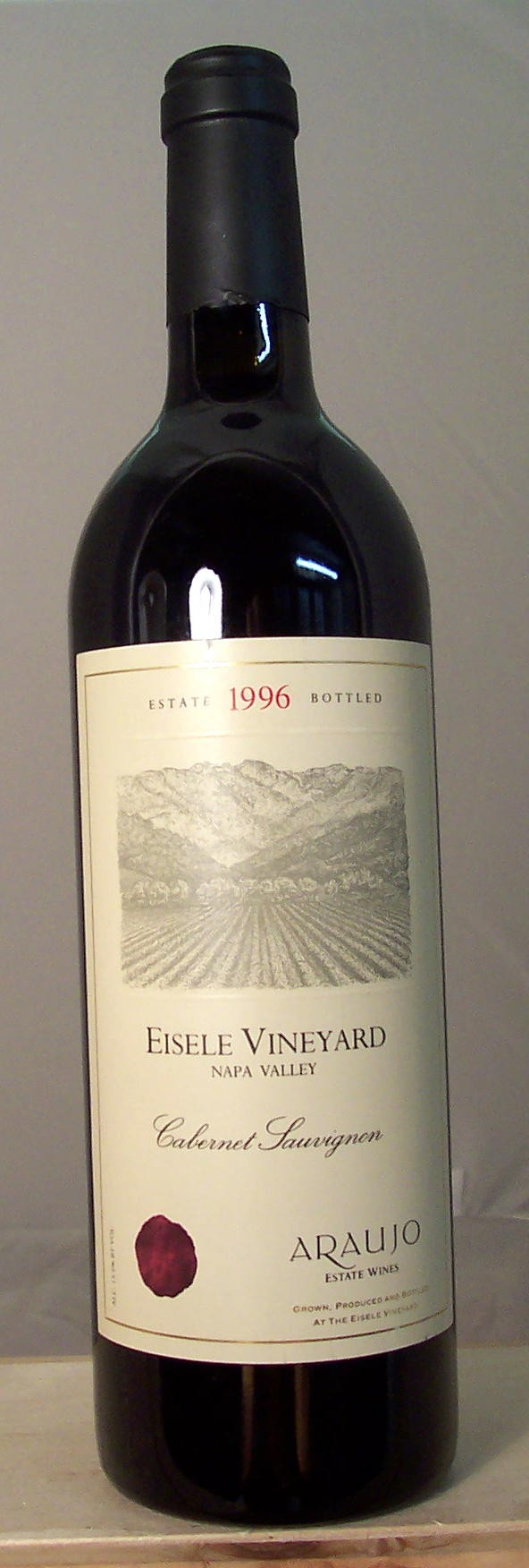 Araujo Estate Wines Cabernet Sauvignon Eisele Vineyard Napa Valley 1996