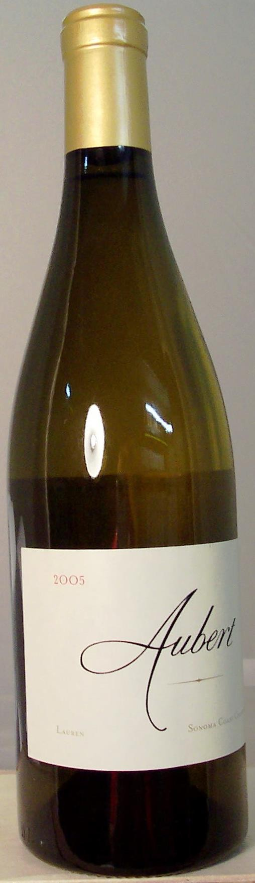 Aubert Wines Chardonnay Lauren Vineyard Sonoma Coast 2005