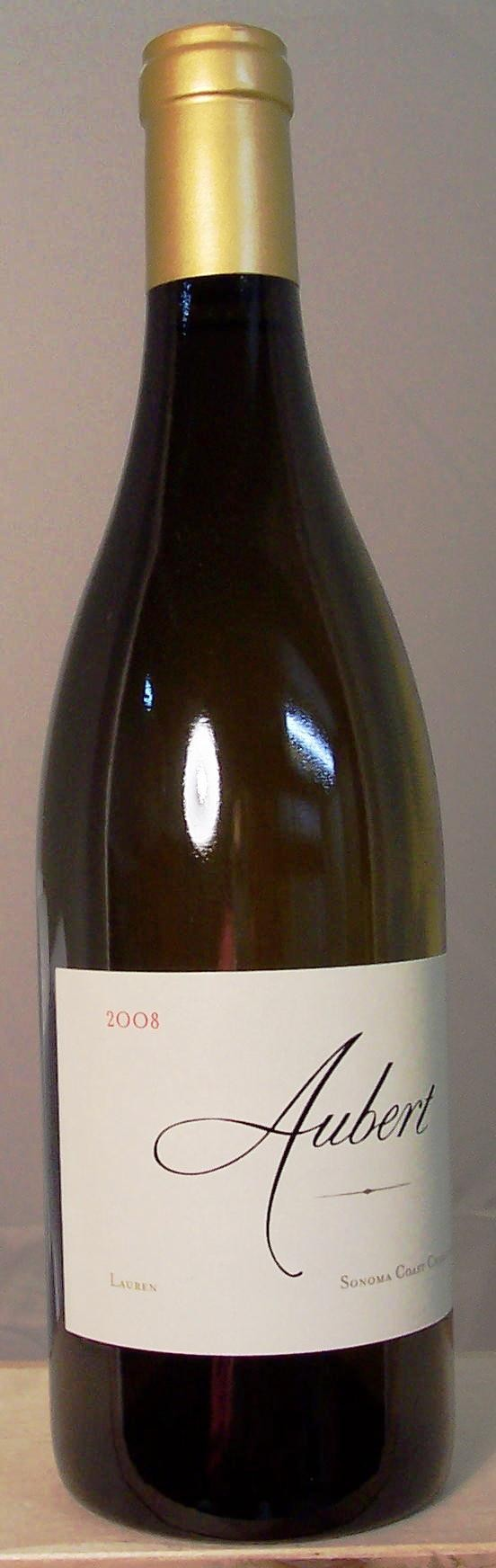 Aubert Wines Chardonnay Lauren Vineyard Sonoma Coast 2008