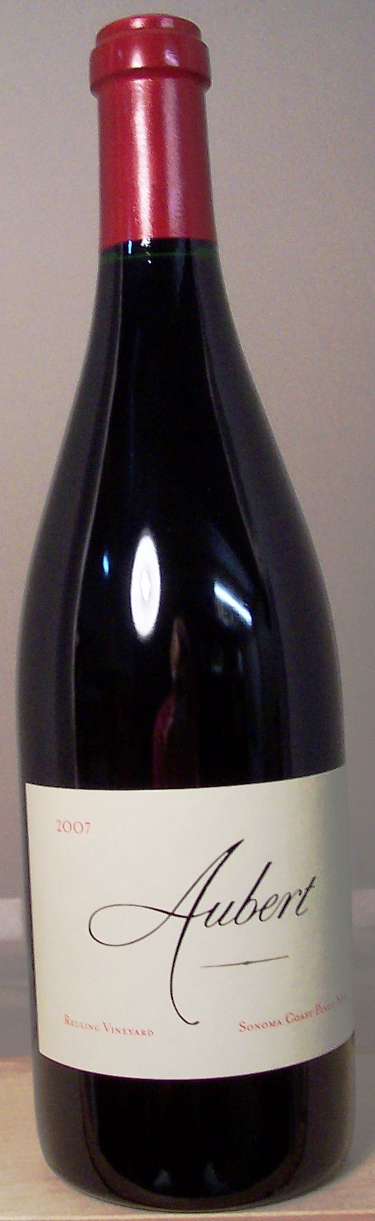 Aubert Wines Pinot Noir Reuling Vineyard Sonoma Coast 2007