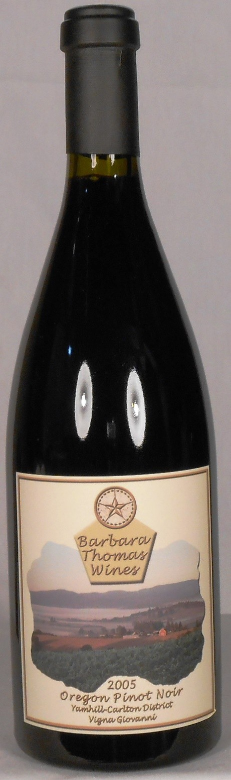 Barbara Thomas Wines Pinot Noir Vigna Giovanni Yamhill-Carlton District 2005