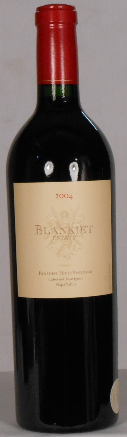 Blankiet Estate Cabernet Sauvignon Paradise Hills Vineyard Napa Valley 2004