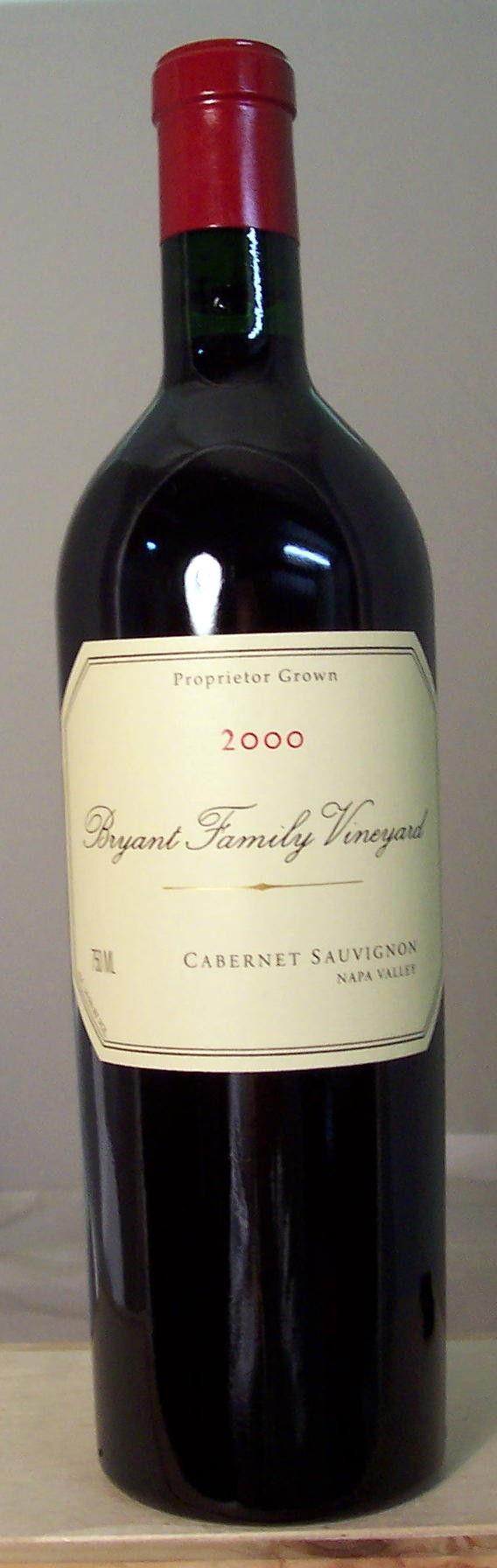 Bryant Family Vineyard Cabernet Sauvignon Napa Valley 2000