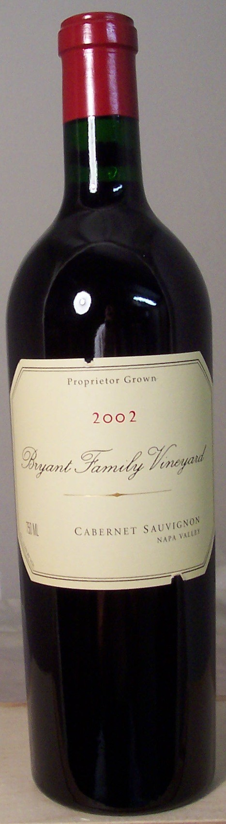 Bryant Family Vineyard Cabernet Sauvignon Napa Valley 2002
