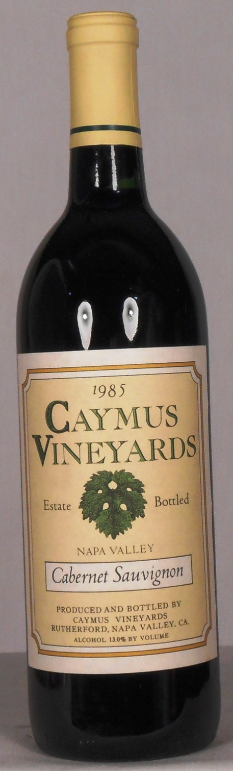 Caymus Vineyards Cabernet Sauvignon Napa Valley 1985