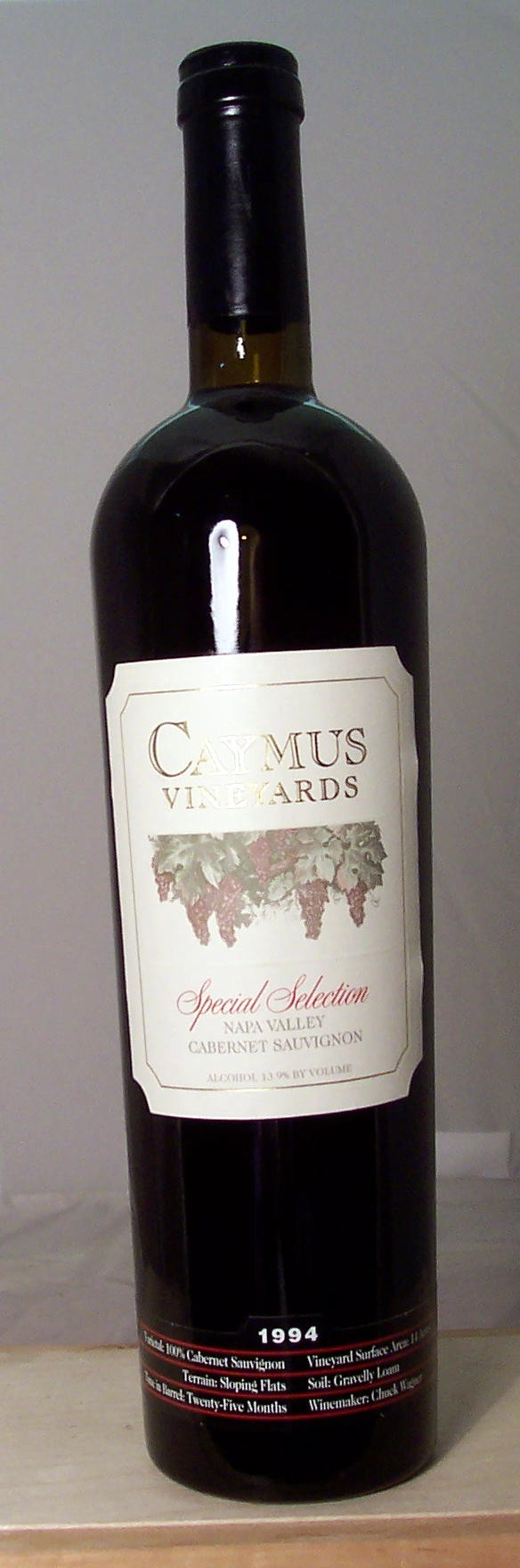 Caymus Vineyards Cabernet Sauvignon Special Selection Napa Valley 1994