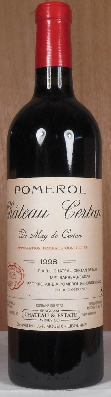 Chateau Certan de May Pomerol 1998