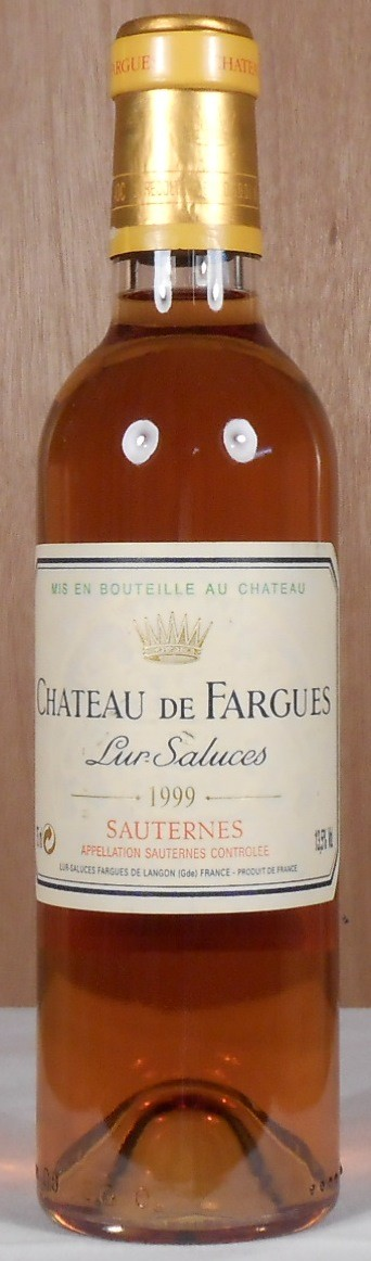 Chateau de Fargues Sauternes 1999 HALF BOTTLE