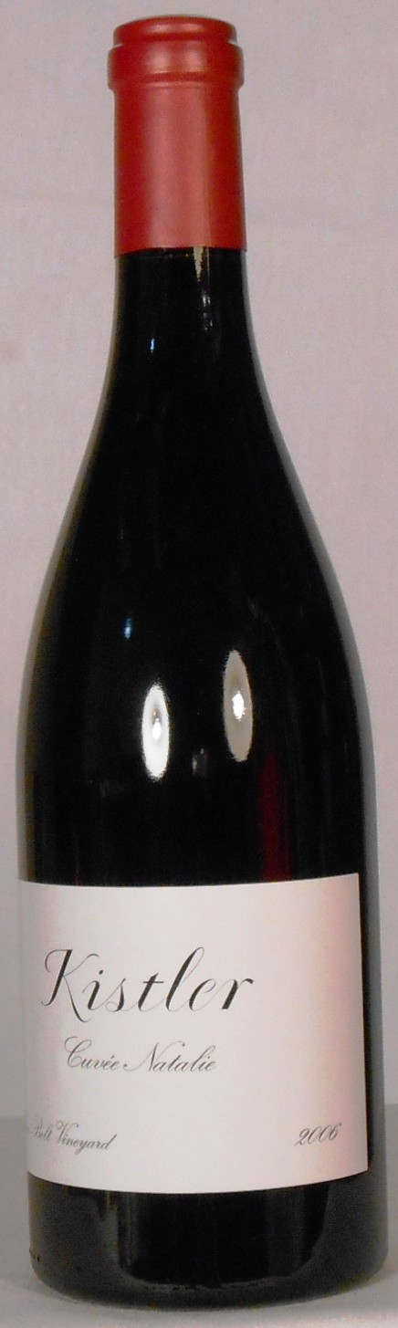 Kistler Vineyards Pinot Noir Silver Belt Vineyard Cuvee Natalie Sonoma Coast 2006