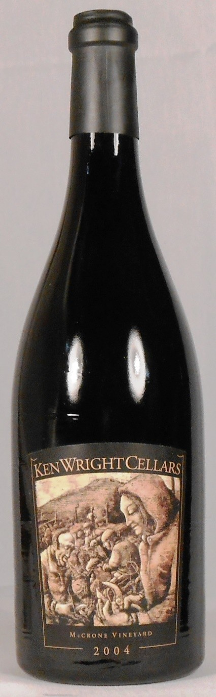 Ken Wright Cellars Pinot Noir McCrone Vineyard Yamhill-Carlton District 2004
