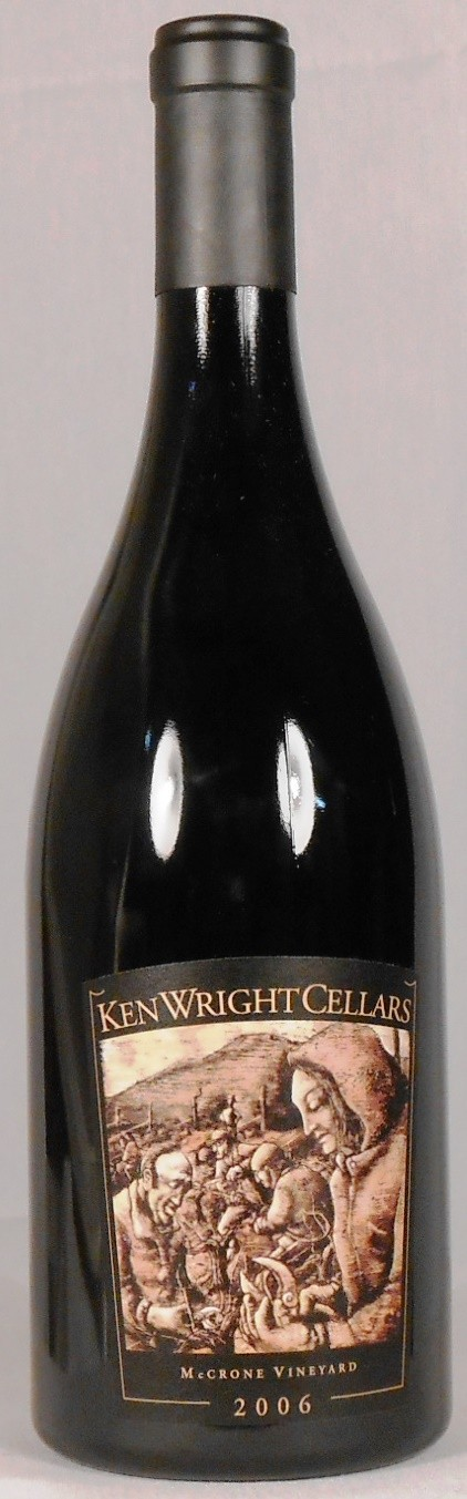 Ken Wright Cellars Pinot Noir McCrone Vineyard Yamhill-Carlton District 2006