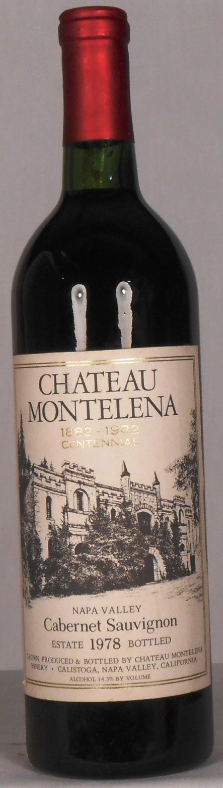 Chateau Montelena Cabernet Sauvignon The Montelena Estate Napa Valley 1978