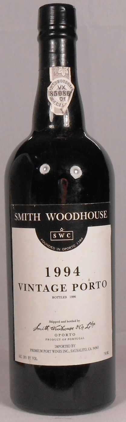 Smith Woodhouse Vintage Porto Portugal 1994
