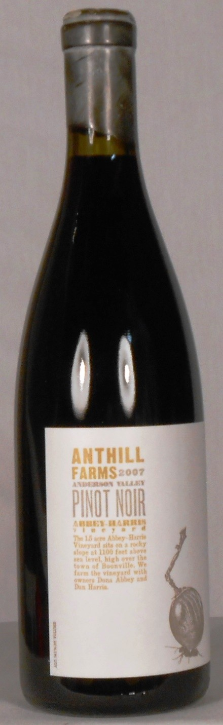 Anthill Farms Pinot Noir Abbey-Harris Vineyard Anderson Valley 2007