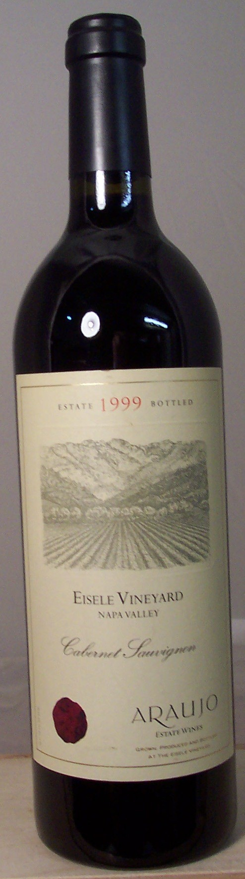 Araujo Estate Wines Cabernet Sauvignon Eisele Vineyard Napa Valley 1999