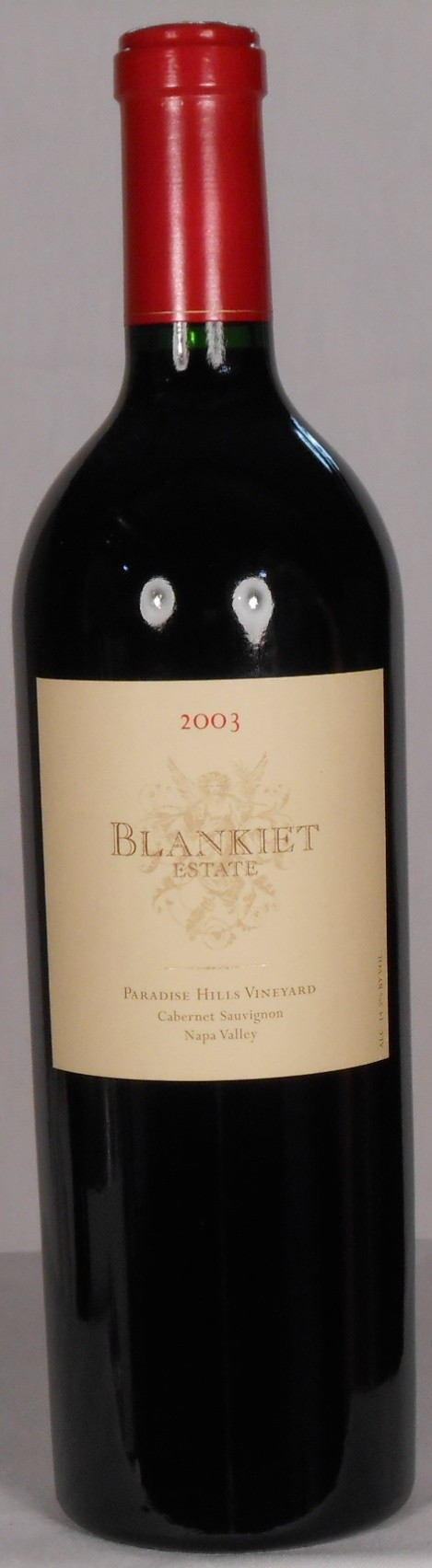 Blankiet Estate Cabernet Sauvignon Paradise Hills Vineyard Napa Valley 2003
