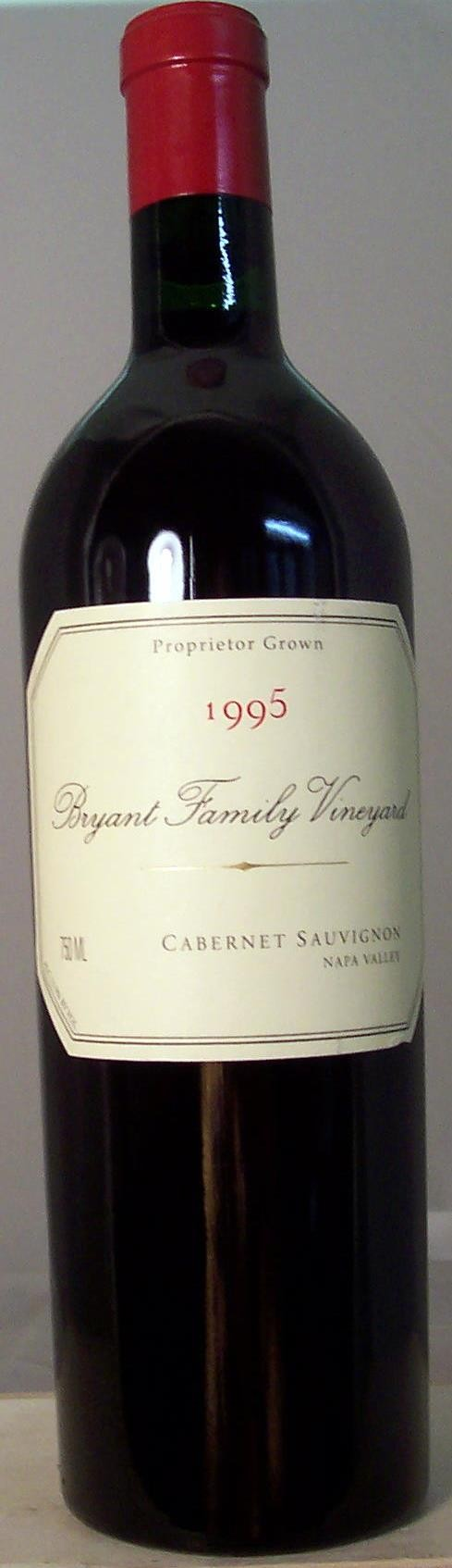 Bryant Family Vineyard Cabernet Sauvignon Napa Valley 1995