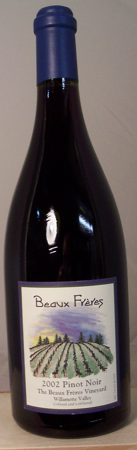 Beaux Freres Pinot Noir The Beaux Freres Vineyard Willamette Valley 2002