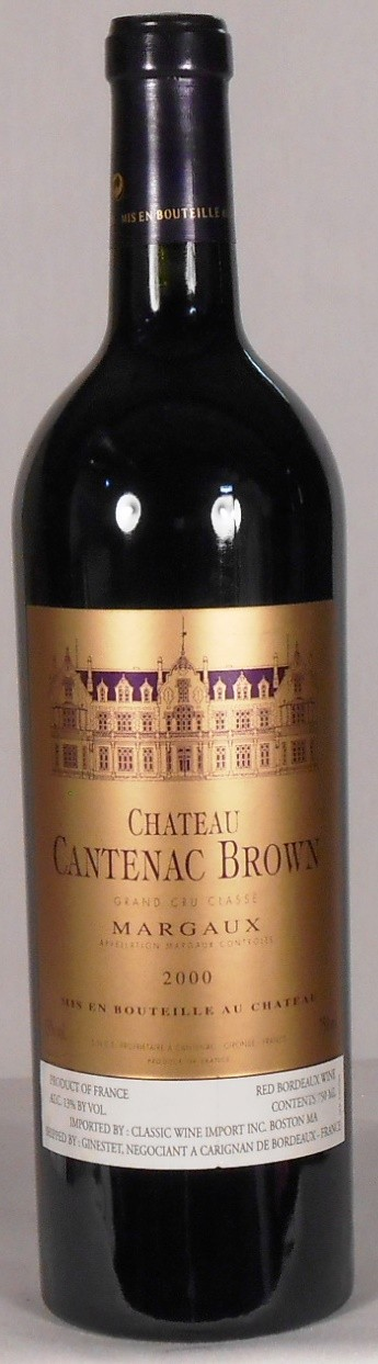 Chateau Cantenac Brown Margaux 2000