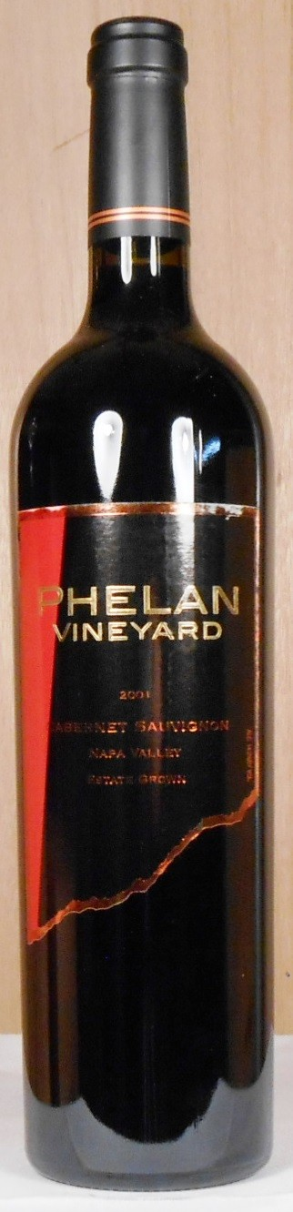 Phelan Vineyard Cabernet Sauvignon Estate Grown Napa Valley 2001